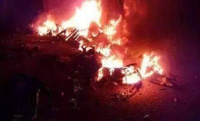 ActivistPostburning us drone in lattakia