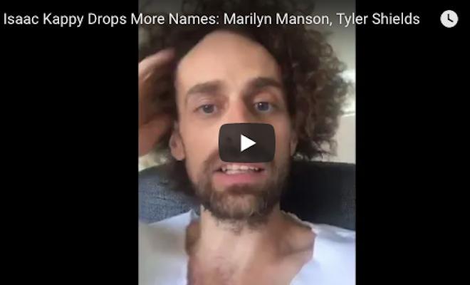 Isaac Kappy: #PedoGate: Isaac Kappy Drops More Names: Marilyn Manson